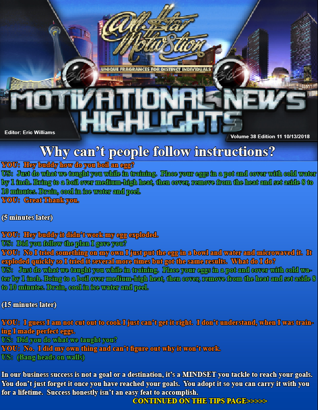 Why Cant People Follow Instructions Allstar Motivation